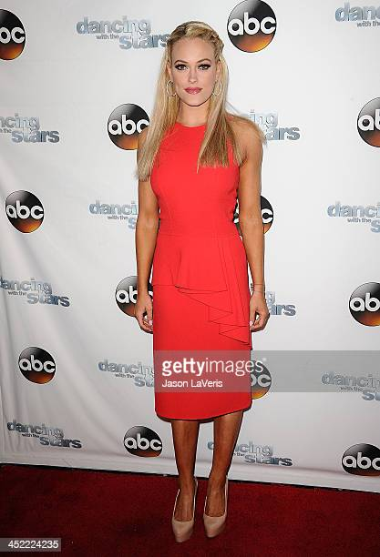 Dancer Peta Murgatroyd attends the Dancing With The Stars wrap party at Sofitel Hotel on November 26 2013 in Los Angeles California