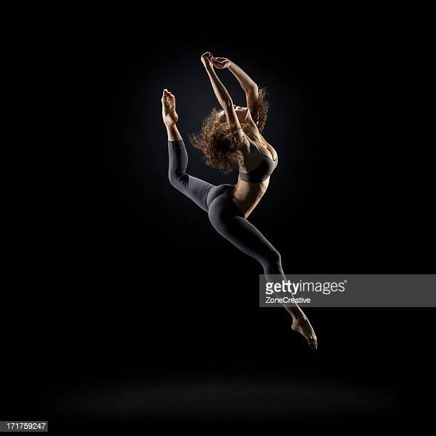Dancer pose on black background