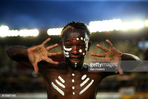 A dancer poses for a portrait on day five of the IAAF U18 World Championships at The Kasarani Stadium on July 16 2017 in Nairobi Kenya