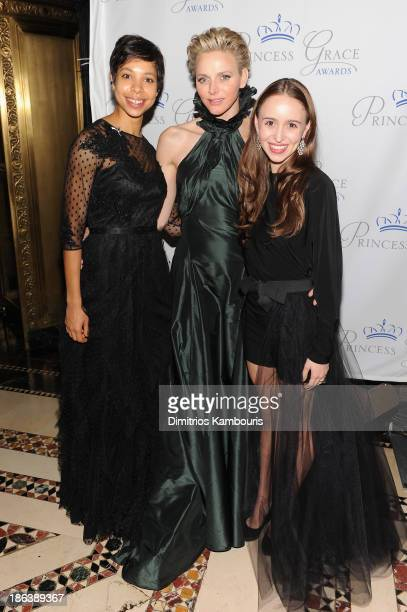 Dancer Rachelle Anais Scott HSH Princess Charlene of Monaco and Skylar P Brandt attend the 2013 Princess Grace Awards Gala at Cipriani 42nd Street on...