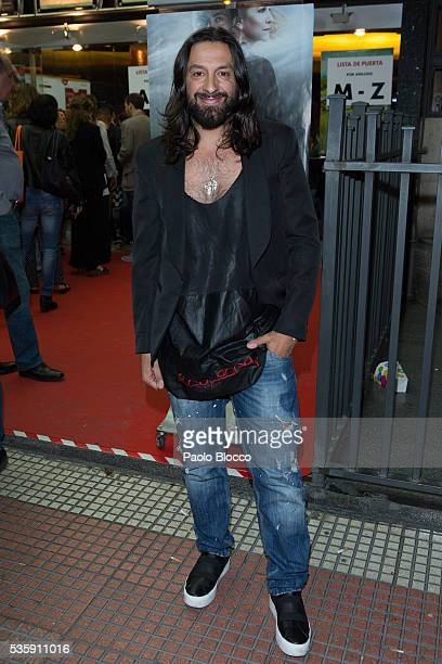 Dancer Rafael Amargo is seen arriving to 'Nuestros Amantes' premiere at Palafox Cinema on May 30 2016 in Madrid Spain
