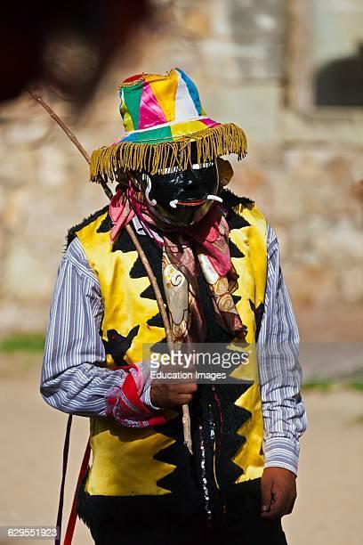 A Dancer Reenacts Zapotec History During The Guelaguetza Festival Cuilapan Mexico Near Oaxaca
