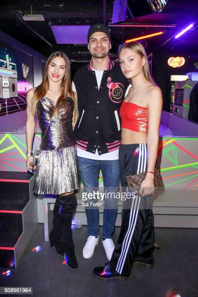 Dancer Renata Lusin with her 'Let's Dance' dancing partner German actor Jimi Blue Ochsenknecht and his sister model Cheyenne Savannah Ochsenknecht...
