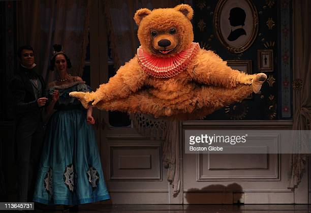 Dancer Rober Kretz in the role of the Bear during the Boston Ballet's production of the Nutcracker at the Boston Opera House on opening night on...