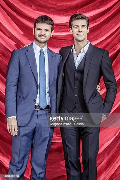 Dancer Roberto Bolle and Director of RaiUno Andrea Fabiano attend a photocall to present the show 'Roberto Bolle – La Mia Danza Libera' to be...