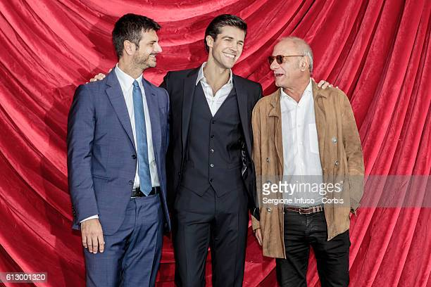 Dancer Roberto Bolle Director of RaiUno Andrea Fabiano and author of the show Giampiero Solari attend a photocall to present the show 'Roberto Bolle...
