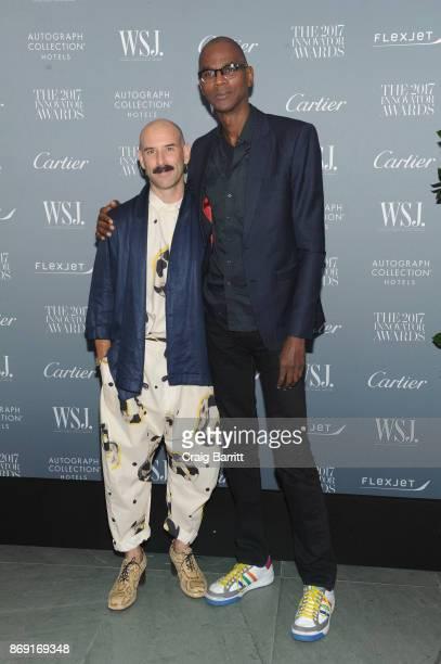 Dancer Ryan Heffington and artist Mark Bradford attend the WSJ. Magazine 2017 Innovator Awards at MOMA on November 1, 2017 in New York City.
