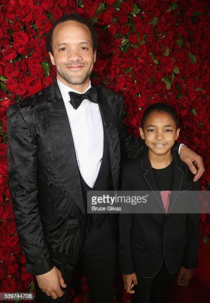 Dancer Savion Glover and Chaney Glover attend 70th Annual Tony Awards Arrivals at Beacon Theatre on June 12 2016 in New York City