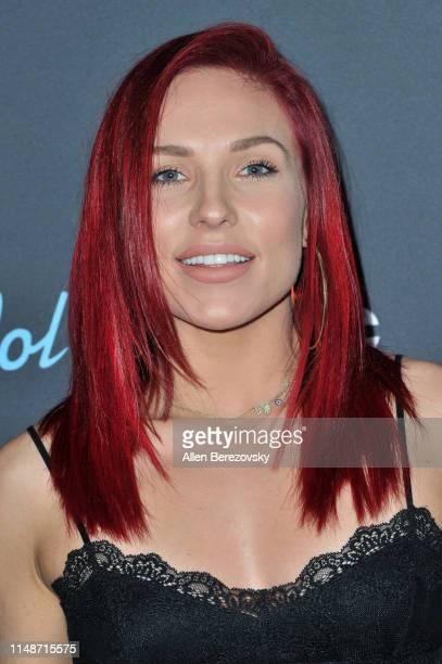 Dancer Sharna Burgess arrives at ABC's American Idol live show on May 12 2019 in Los Angeles California
