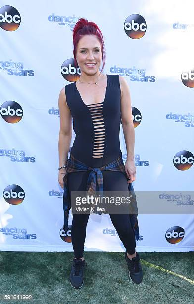 Dancer Sharna Burgess attends The Grove Hosts Dancing With The Stars Dance Lab With pros Val Chmerkovskiy, Whitney Carson and Sharna Burgess at The...