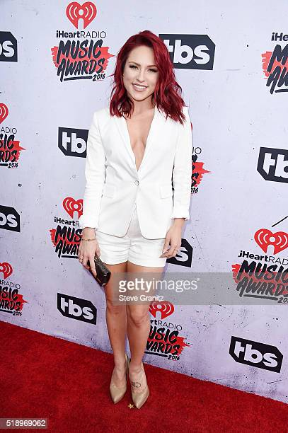 Dancer Sharna Burgess attends the iHeartRadio Music Awards at The Forum on April 3 2016 in Inglewood California