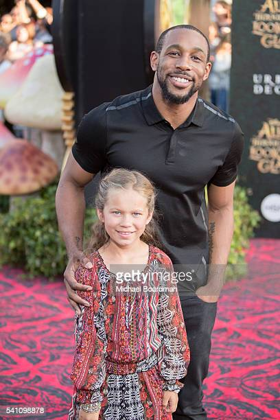 Dancer Stephen 'Twitch' Boss and Weslie Fowler attends the premiere of Disney's Alice Through The Looking Glass at the El Capitan Theatre on May 23...