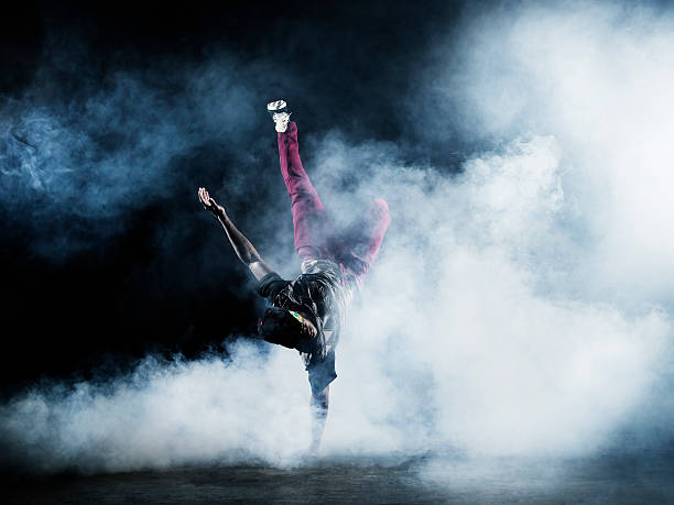 Dancer surrounded by smoke