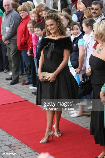 Dancer Susan Ginity arrives at St Patrick's church in Fermoy Co Cork ahead of the wedding of River Dance star Michael Flatley to 32yearold dancer...