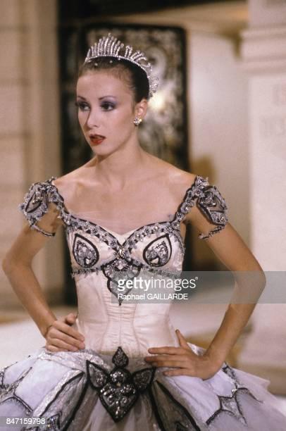 Dancer Sylvie Guillem on set of TV programme Le Grand Echiquier on September 24 1986 in Paris France
