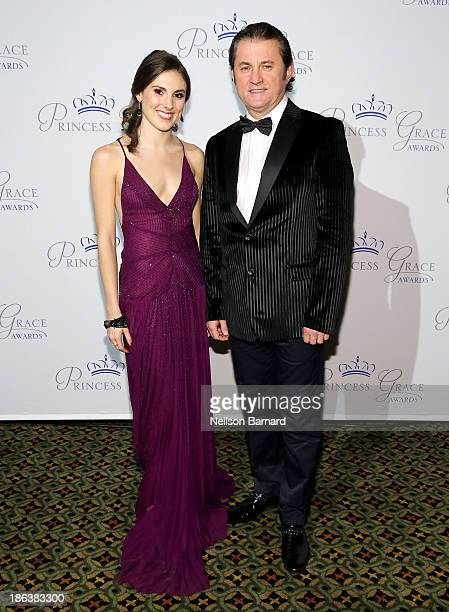 Dancer Tiler Peck and Alex Soldier attend the 2013 Princess Grace Awards Gala at Cipriani 42nd Street on October 30 2013 in New York City