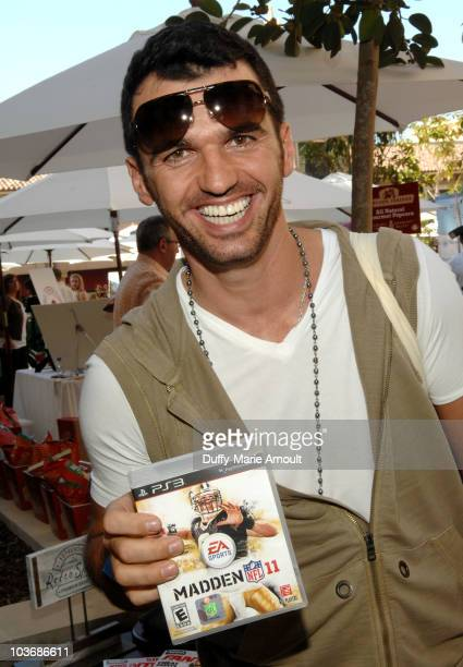 Dancer Tony Dovolani poses at Retro Sport booth during Kari Feinstein Primetime Emmy Awards Style Lounge Day 2 held at Montage Beverly Hills hotel on...