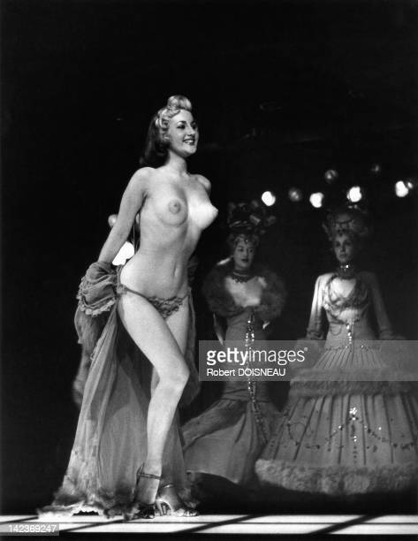 Dancer topless in a variety show London England in 1956