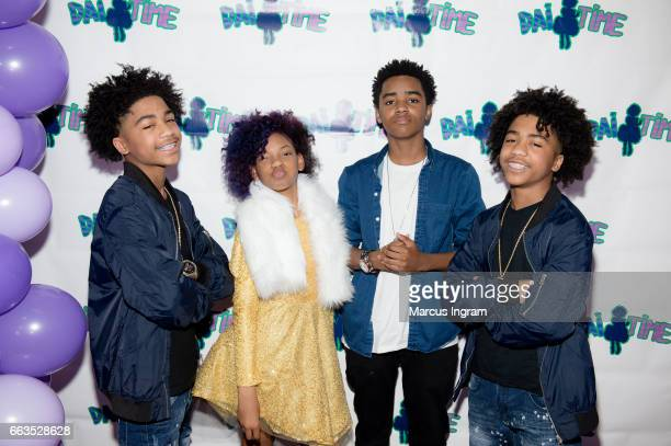 Dancer Tristan Timmons Dai Time actor Myles Truitt and dancer Tyler Timmons attend Dai Time Magazine's first edition launch party on April 1 2017 in...