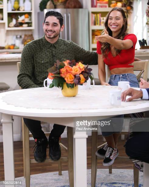 Dancer / TV Personality Alan Bersten and Model Alexis Ren visit Hallmark's 'Home Family' at Universal Studios Hollywood on October 12 2018 in...