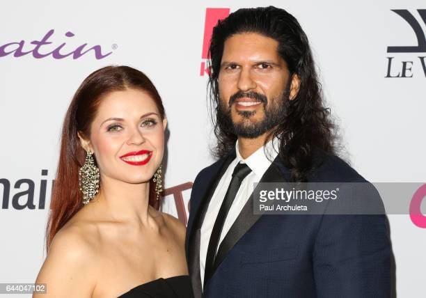 Dancer / TV Personality Anna Trebunskaya and Actor Nevin Millan attend OK Magazine's annual preOscar event at Nightingale Plaza on February 22 2017...