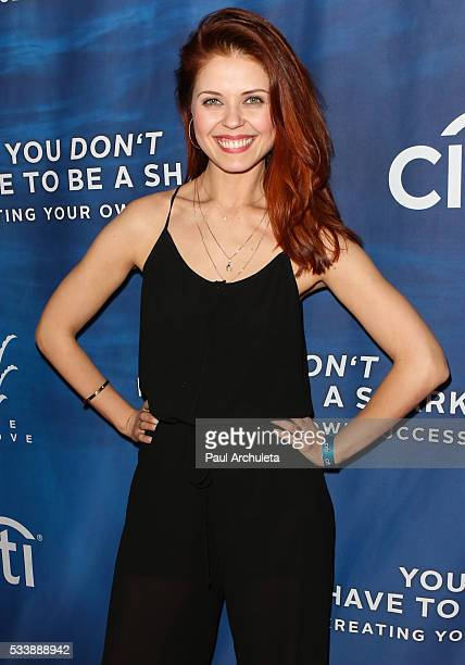 Dancer / TV Personality Anna Trebunskaya attends an evening with Robert Herjavec to celebrate his new book 'You Don't Have to Be a Shark Creating...