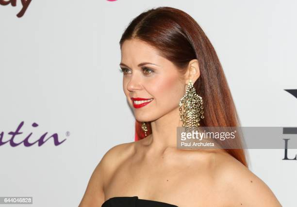 Dancer / TV Personality Anna Trebunskaya attends OK Magazine's annual preOscar event at Nightingale Plaza on February 22 2017 in Los Angeles...