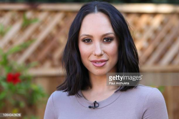 Dancer / TV Personality Cheryl Burke visits Hallmark's Home Family at Universal Studios Hollywood on October 26 2018 in Universal City California