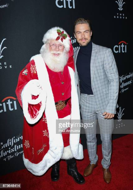 Dancer / TV Personality Derek Hough and attend the California Christmas At The Grove at the Grove on November 12 2017 in Los Angeles California