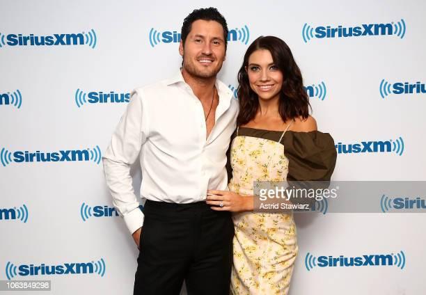 Dancer Val Chmerkovskiy and Jenna Johnson visit the SiriusXM studios on November 20 2018 in New York City