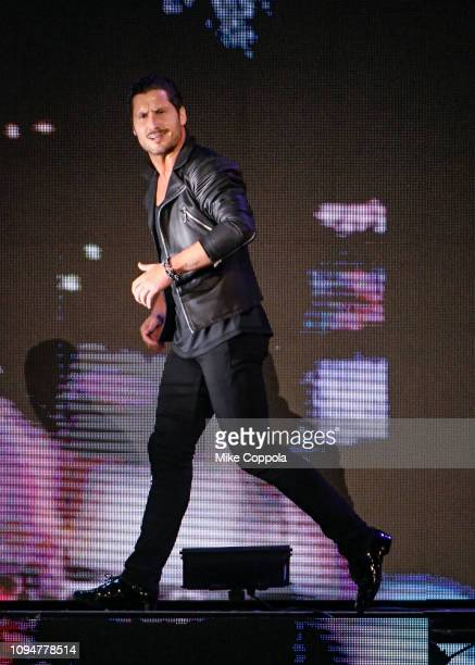 Dancer Valentin Chmerkovskiy performs during Dancing with the Stars Live A Night To Remember New York New York at Radio City Music Hall on January 15...