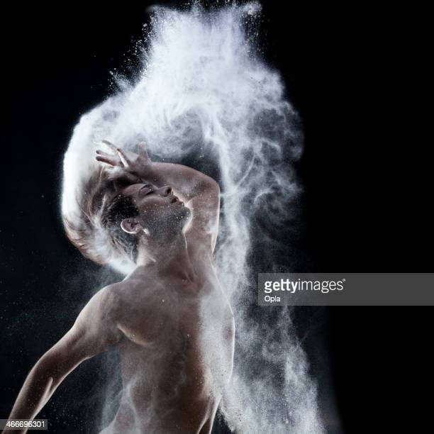 Dancer with flour