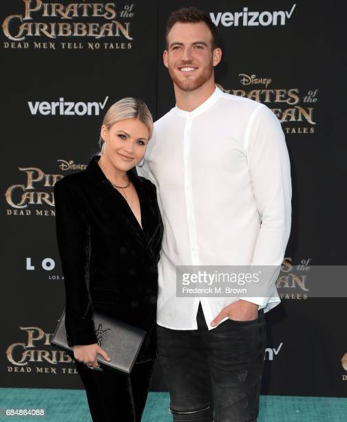 Dancer Witney Carson and Carson McAllister attend the premiere of Disney's 'Pirates Of The Caribbean Dead Men Tell No Tales' at Dolby Theatre on May...