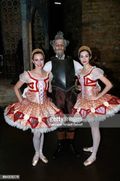 Dancer Yann Chailloux and Dancers pose after have performed in 'Don Quichotte' during the 32th 'Reve d'Enfants' Charity Gala at Opera Bastille on...