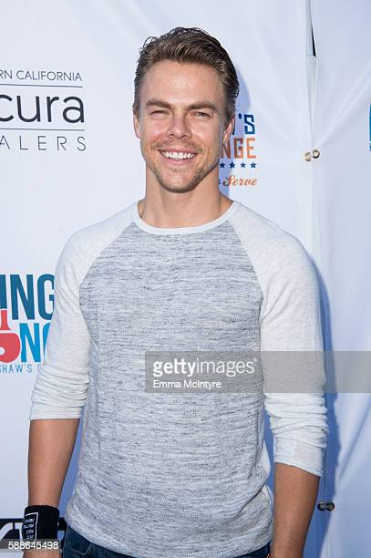 Dancer/actor Derek Hough attends Clayton Kershaw's 4th annual 'Ping Pong 4 Purpose Celebrity Tournament' at Dodger Stadium on August 11 2016 in Los...