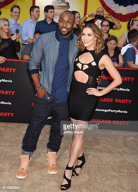 Dancer/actor Stephen 'tWitch' Boss and dancer Allison Holker arrive at the Premiere Of Sony's 'Sausage Party' at Regency Village Theatre on August 9...
