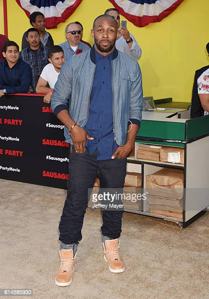 Dancer/actor Stephen 'tWitch' Boss arrives at the Premiere Of Sony's 'Sausage Party' at Regency Village Theatre on August 9 2016 in Westwood...