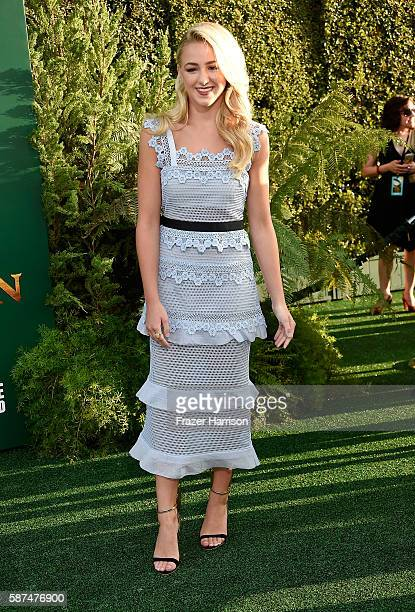 Dancer/actress Chloe Lukasiak attends the premiere of Disney's Pete's Dragon at the El Capitan Theatre on August 8 2016 in Hollywood California