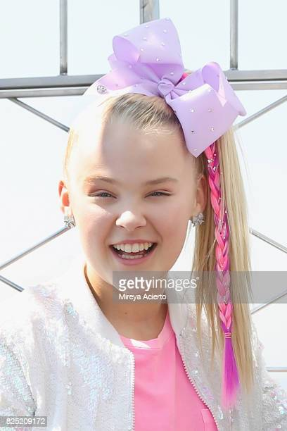 Dancer/actress Jojo Siwa visits the Empire State Building to promote her TV special 'JoJo Siwa My World' at The Empire State Building on August 1...