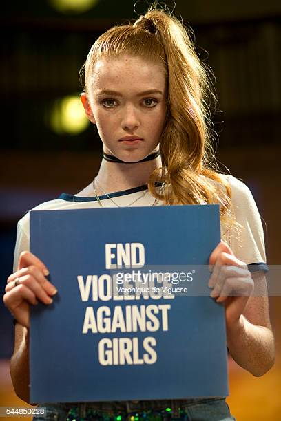 Dancer/actress Larsen Thompson on the set of a video shoot directed by MJ Delaney inspired by the Spice Girls video for Wannabe for Global Girls on...