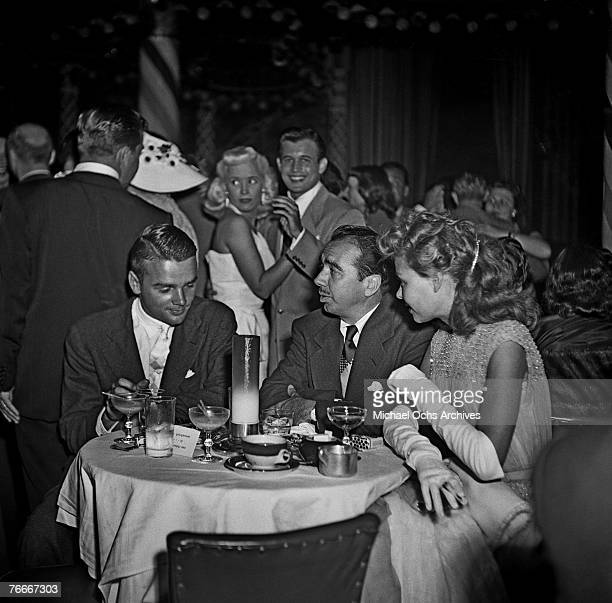 Dancer/actress Vera-Ellen dines at the famous Macambo nightclub on the Sunset Strip in July 1951 in Hollywood, California.