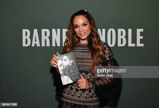 Dancer/author Mayte Garcia signs copies of her new book 'The Most Beautiful My Life With Prince' at Barnes Noble Tribeca on April 4 2017 in New York...