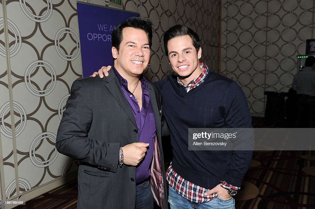 Dancer/choreographer Beau 'Casper' Smart (R) and fashion designer Charlie Lapson attend the ANA Multicultural Cocktail Reception sponsored by NUVOtv at JW Marriott Los Angeles at L.A. LIVE on November 3, 2013 in Los Angeles, California.
