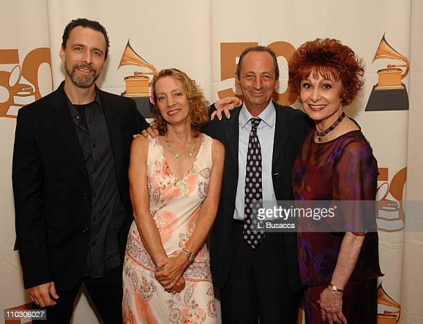Dancer/choreographer Christopher D'Amboise Jamie Bernstein Thomas Alexander Bernstein and Carol Lawrence pose during the Recording Academy New York...