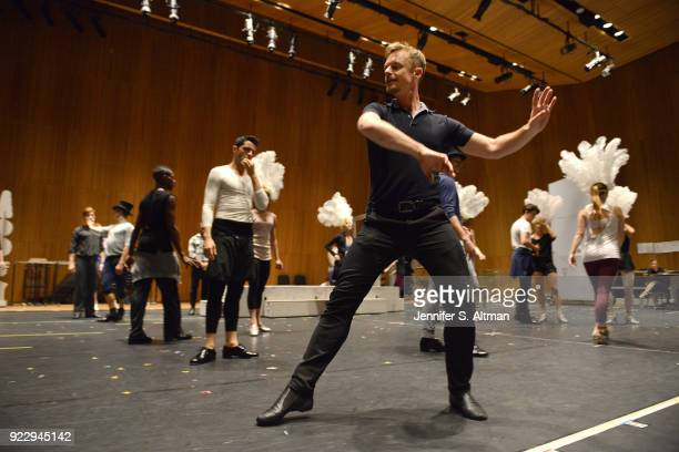 Dancer/choreographer Christopher Wheeldon is photographed for Boston Globe on September 23 2016 during a rehearsal for 'An American in Paris' at the...