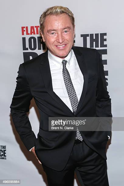Dancer/choreographer Michael Flatley attends the Lord of the Dance Dangerous Games Broadway opening night at the Lyric Theatre on November 10 2015 in...