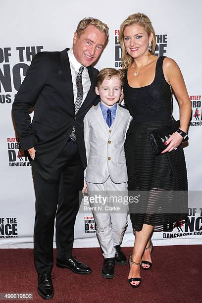 Dancer/choreographer Michael Flatley son Michael St James Flatley and wife Niamh O'Brien attend the Lord of the Dance Dangerous Games Broadway...