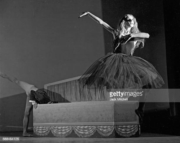 """Dancer/choreographer Myra Kinch photographed performing """"Giselle's Revenge"""" with Bill Milie in 1953."""