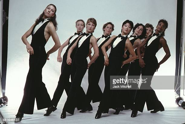 Dancer/choreographer Twyla Tharp and her dance company performing solos and various repertory in 1979