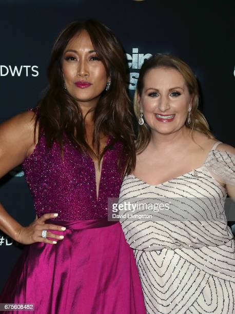 Dancer/competition judge Carrie Ann Inaba and choreographer Mandy Moore attend 'Dancing with the Stars' Season 24 at CBS Televison City on May 1 2017...